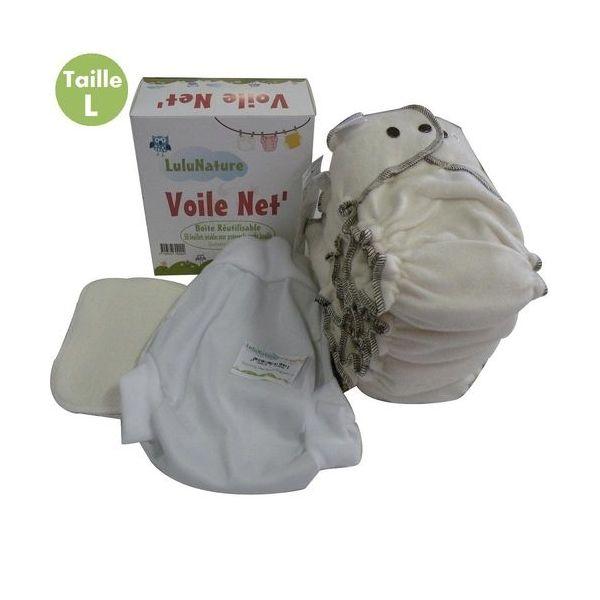 pack 4 couches lavable coton biologique - modulo bio - 3/6 kg