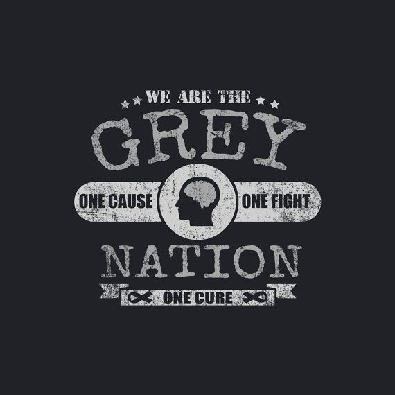 Cancer Awareness Brain Cancer Gray Ribbon We Are The by TeamBeth