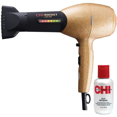 CHI Rocket Dryer - Limited Edition Be Glam Professional Hair Blow Dryer Gold  #CHI