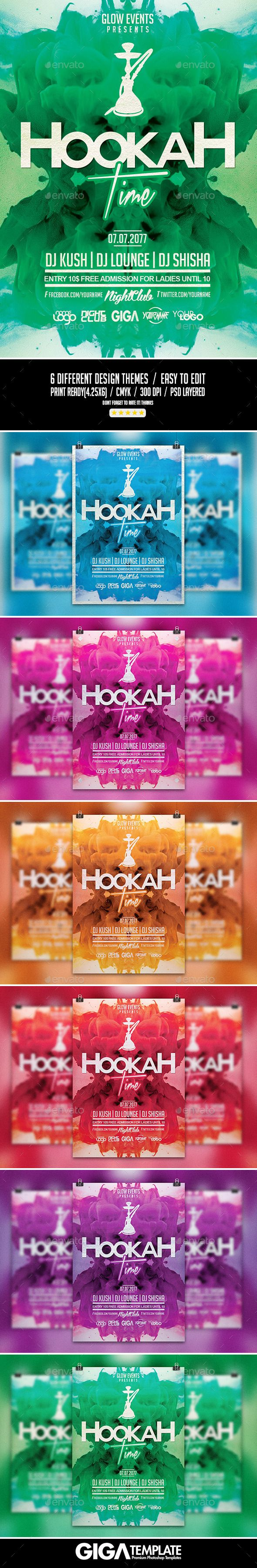 Hookah Time | Night Party PSD Flyer Template
