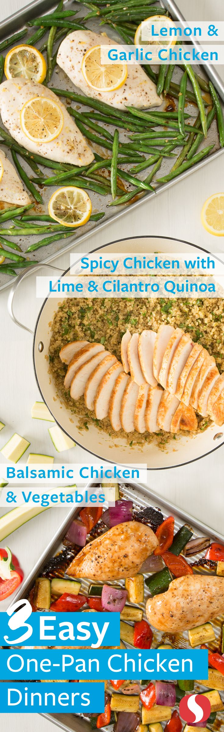 3 Easy One Pan Meals—Signature Farms™ quality boneless, skinless chicken breasts are the base for these simple one-pan meals. With minimal time and cleanup, you will have a protein-packed meal perfect for busy weeknights!
