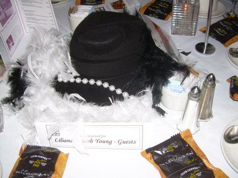 Indulgence never looked so good #glam #fedora #boa #feathers #pearls #balloons #corporateevents #companyparty #eventstoronto #ballooncorporateevents #summerparty #holidayparty #eras #decades #themedevents #centerpiece