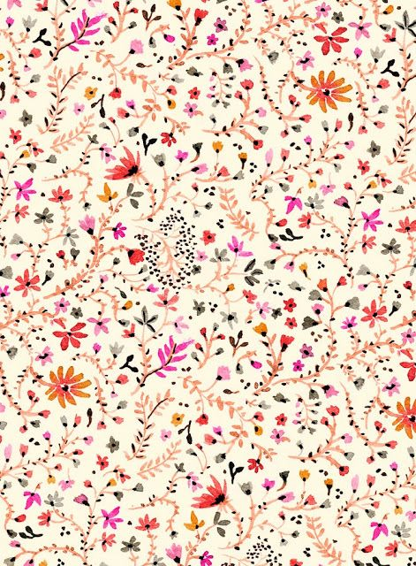 Vikki Chu: New Floral Pattern I really like the colours and floral aspects of this pattern, the colours are warm