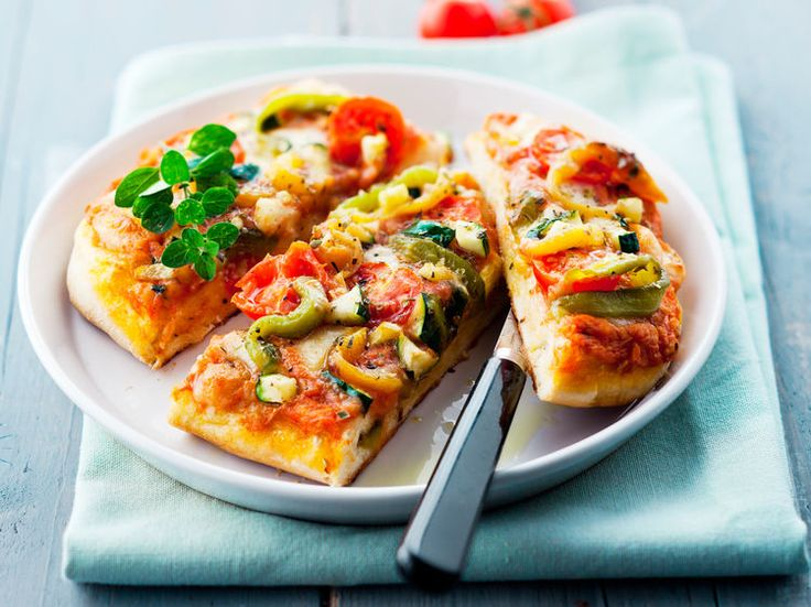 Pizza aux légumes du soleil, facile et pas cher