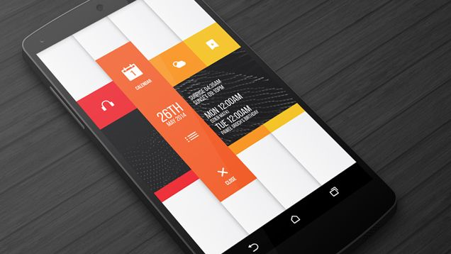 A clean mobile homescreen with a simple color palette that could be an inspiration for a homepage layout. -CS
