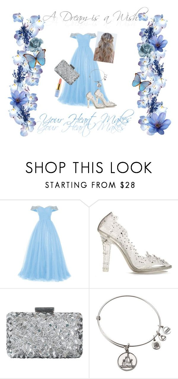 """Silver Slippers"" by paige1712 ❤ liked on Polyvore featuring Dolce&Gabbana, Oscar de la Renta, modern, disney, cinderella and silverslippers"
