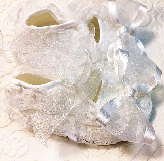 Baptism shoes newborn shoes Lacey newborn shoes baby shoes
