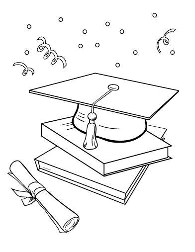 Printable graduation coloring page