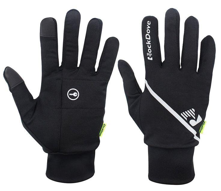 Nike Gloves Key Pocket: RockDove Men's Running Gloves W/ Palm Key Pocket, Light
