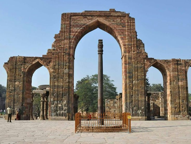 Did you know there is an Iron Pillar inside the Qutab Minar, Delhi, which in itself is one of wonders of India?  A pillar that has stood for more than 1600 years without rusting. Yes, that's true!   #India #Delhi #QutabMinar #IronPillar #monumentsofindia #architecture #wondersofindia #travel #trip #tour #yolo #usa #UCLA