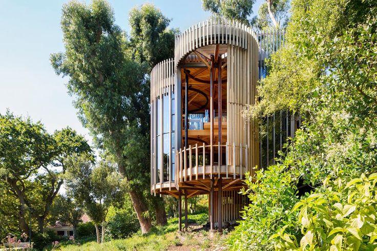 Maison originale inspirée par la cabane dans les arbres construite dans une belle propriété résidentielle en afrique du sud a treeinterior design