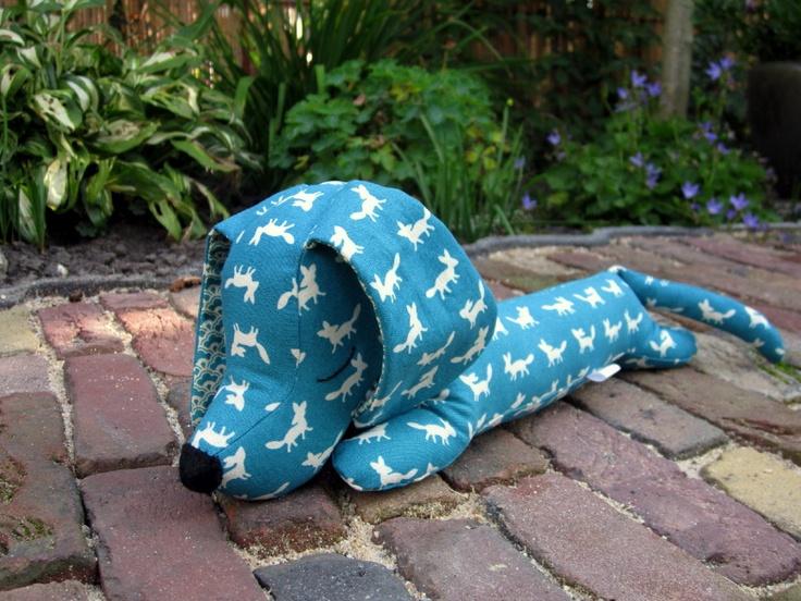 Little Freddy the Dachshund, of Kokka fabric.  SOLD!