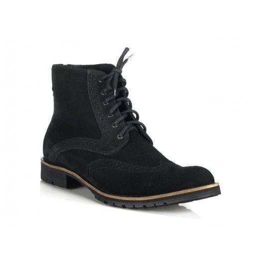 Talianske pánske topánky čiernej farby COMODO E SANO - fashionday.eu