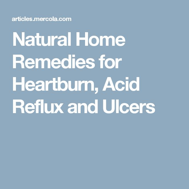 how to get rid of acid reflux without medication