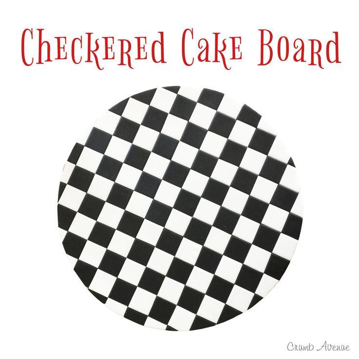 Perfect Checkered Cake Board Tutorial