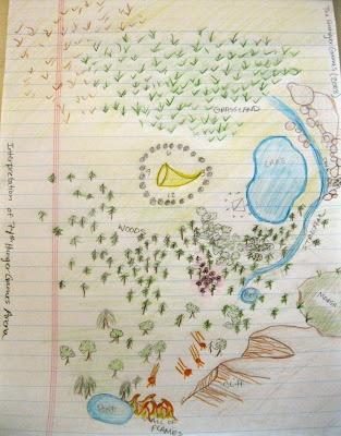 map: 74Th Hunger, Classroom Stuff, Libraries Stuff, Hunger Games, Drawn Maps, Hand Drawn, Hands Drawn, Games Arena, Teaching Thehungergam
