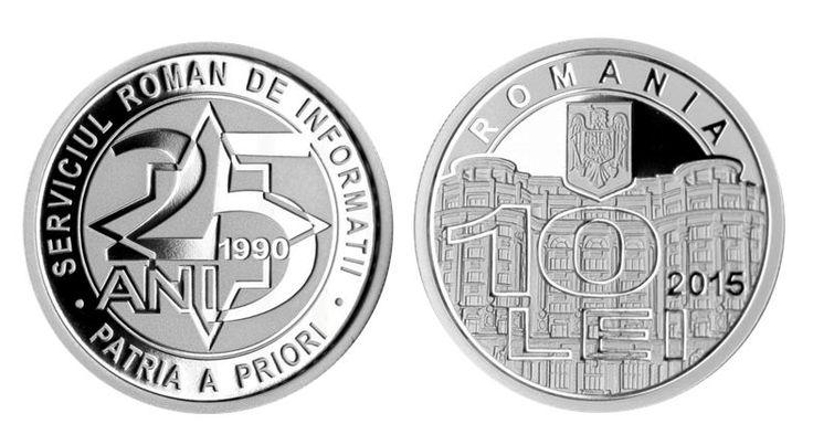 Cu prilejul aniversării a 25 de ani de la înfiinţarea SRI, Banca Naţională a României va lansa în circuitul numismatic o monedă din argint.