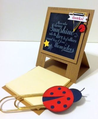 Kiddies going back to school? How about a creative outlet for all the Moms caregivers, Grandma's, etc, who are home or free in the mornings! I am starting a Tuesday Morning Stamp Club! 9am, First Tuesday of the month, September thru February! New stampers welcome!  Contact me here for details and to join! This cute post-it note holder will be one of our first project!   You'll surprise yourself with want YOU create! Create with Gwen, Stampin' Up! Demonstrator, Gwen Edelman, Create with Gwen