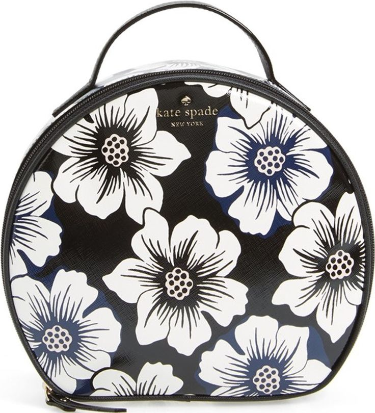 •Website: http://www.cuteandstylishbags.com/portfolio/kate-spade-new-york-black-multi-cedar-street-floral-miri-cosmetics-case/ •Bag: Kate Spade New York Black Multi 'Cedar Street Floral – Miri' Cosmetics Case