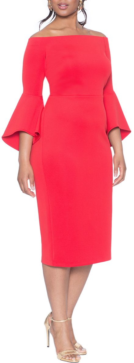 flare sleve dress