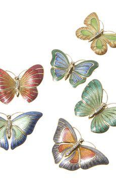 William & Son enamel butterfly pins