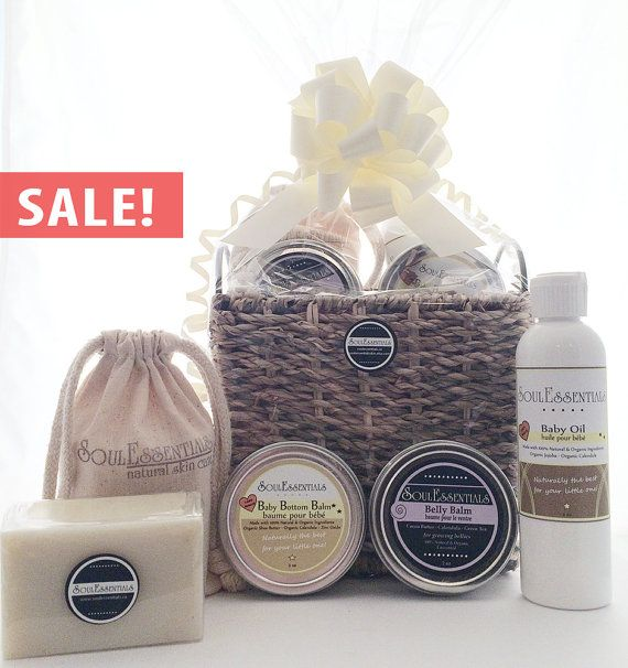 SALE Organic Baby Gift Basket  Baby & Mom by SoulEssentialsSkin