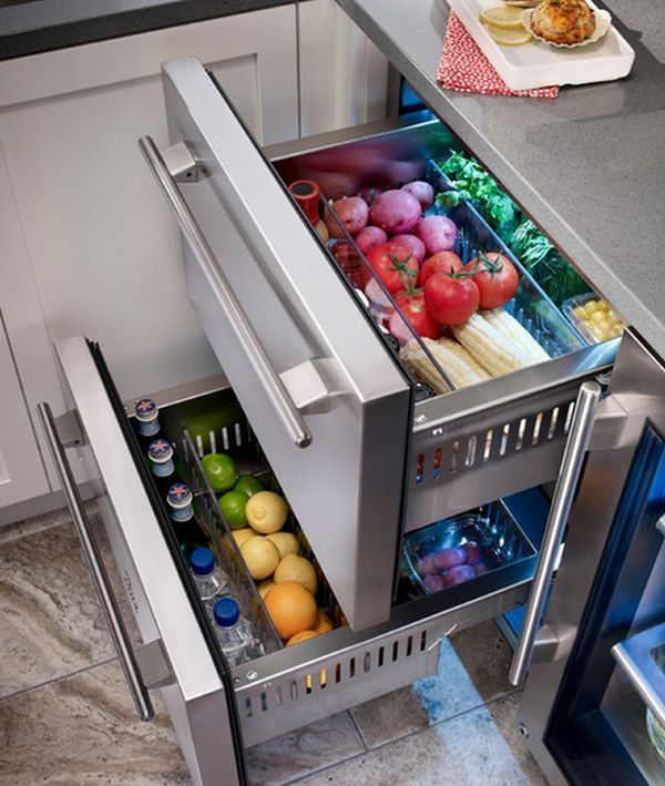 Undercounter refrigerator drawers have lately become increasingly popular in modern and contemporary kitchens. They're an ideal addition as they don't only