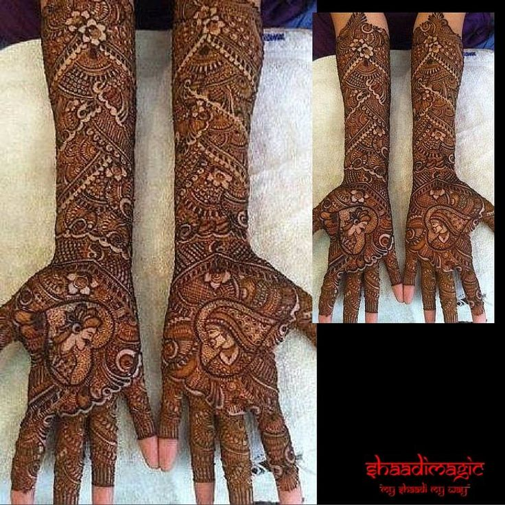 This is the classic full hand mehendi with a lot of traditional designs and is perfect for the bride who wants to go all the way for her mehendi.