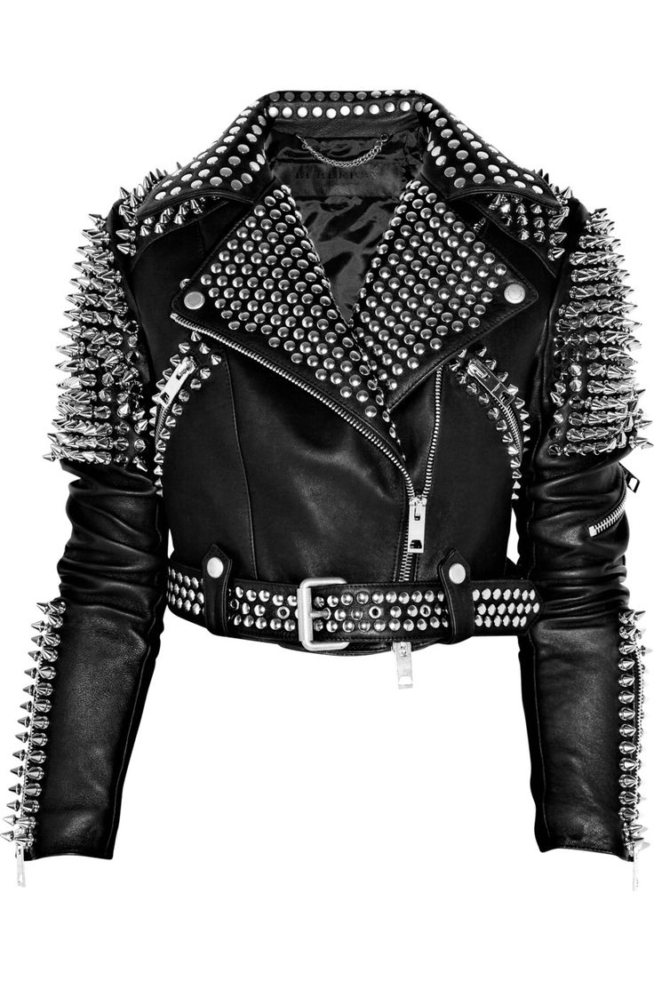 Burberry Prorsum Studded leather biker jacket. It's a bit overkill on the silver studs, but it looks super badass.