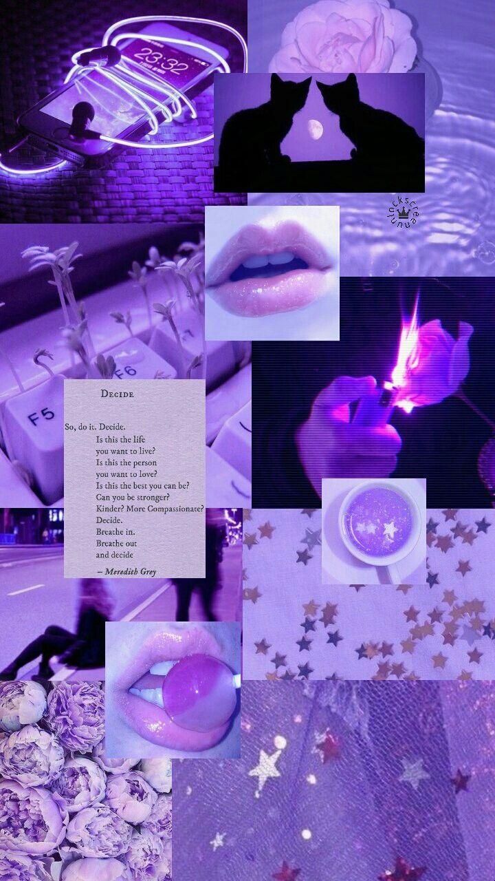 Neon digital wall art, boujee neon wall collage kit, purple photo wall collage(digital download). Aesthetic Tumblr Aesthetic Pastel Purple Wallpaper ...