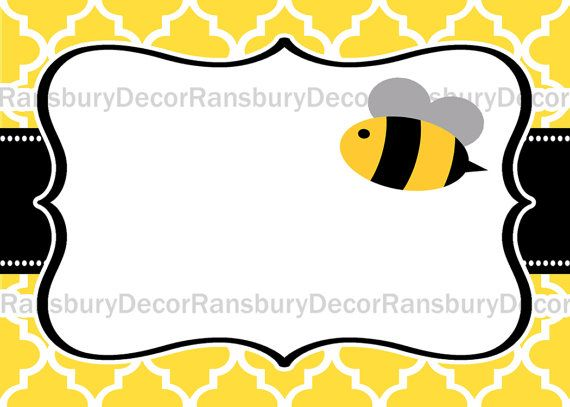 Mom to Bee Tent Card - Food Tent - Bee Theme - Baby Sprinkle Party - Printable Decor - Digital Download - Mommy to Bee - Bee Party - by RansburyDecor