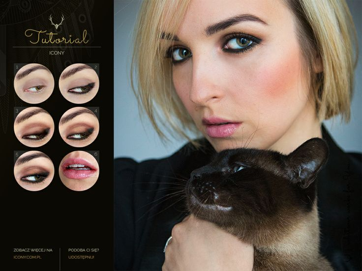 Dark Chocolate & Caramel Smokey #tutorial #makeup #blogicony