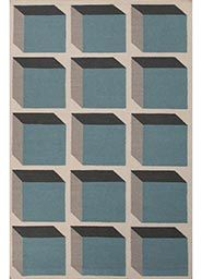 Wool Material Clearance Rugs in Blue color