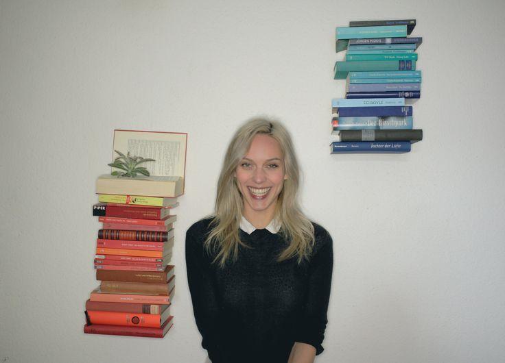 Baut euch ein schwebendes oder unsichtbares Bücherregal! Ist super einfach und eine gute Möglichkeit Bücher zu verstauen, ohne sich noch mehr Zeug in die Bud...