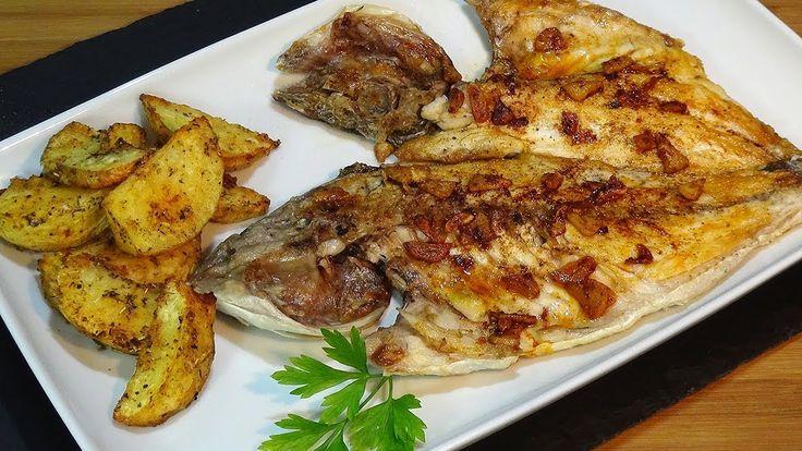 Receta Dorada a la espalda con patatas al horno, fácil y deliciosa - Rec...