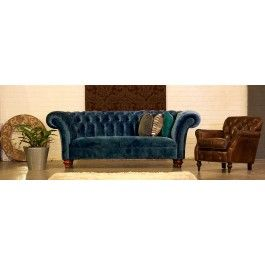 Castleford Fabric Chesterfield Sofa