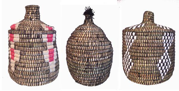 Moroccan Berber baskets from kira-cph.com