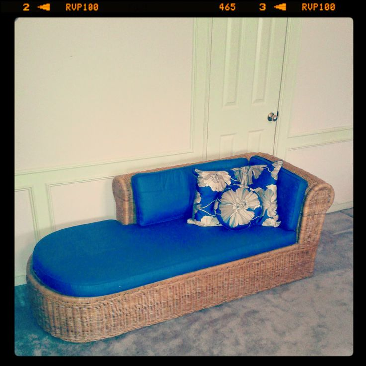 Vintage Rattan Wicker Chaise Lounge Retro Indoor Furniture From Jakarta  Indonesia Mod Style Design For Beach House Or Urban Loft.