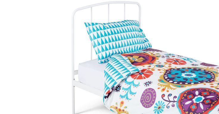 Folk 100% Cotton Single Bed Set, Multicolour
