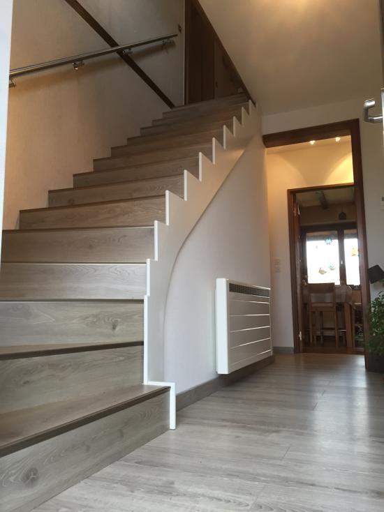 Maytop tiptop habitat habillage d escalier r novation - Marche escalier bois ...