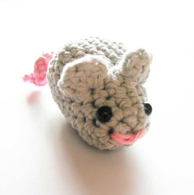 EASY Crochet mouse (link to pattern).  I did this with NO amigurumi experience and advanced Beginner skills.  It is adorable!  I am not as intimidated by amigurumi now, and will be making more things now!  Try it!  So Easy!!