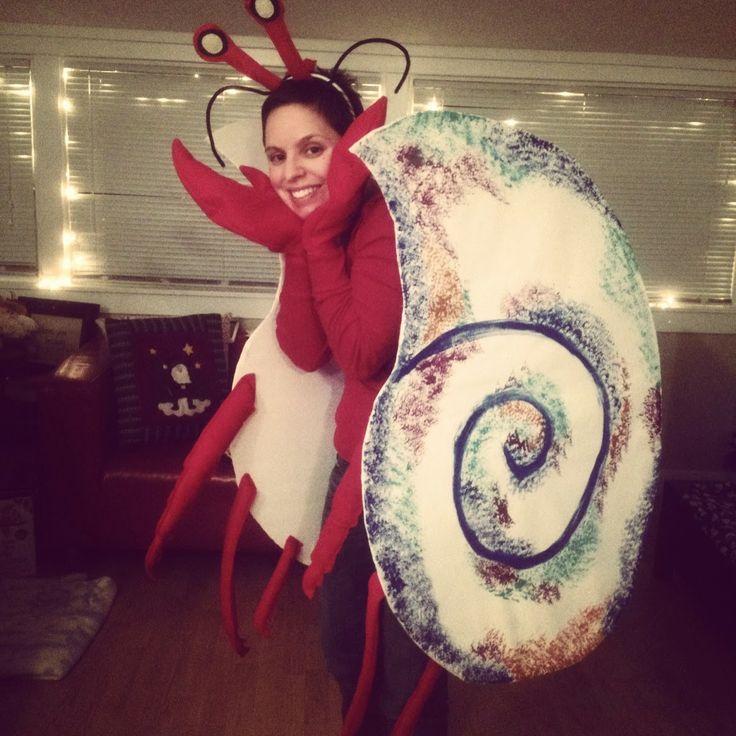 Homemade Eric Carle hermit crab costume!