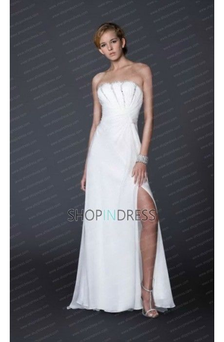 White dress #white #prom #gowns #sexy #evening #formal #party