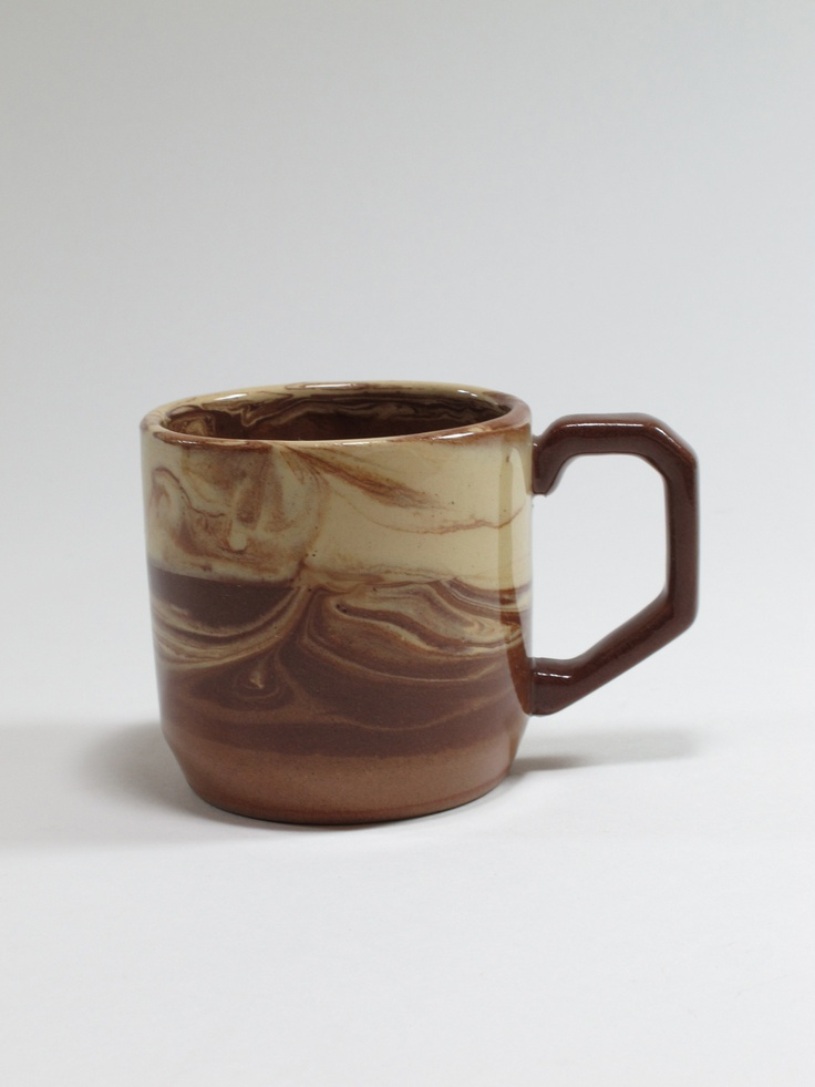 Te Rona Potteries, cup, agate ware, 1980s, Temuka, Canterbury, New Zealand. Collection of Auckland Museum, K4364