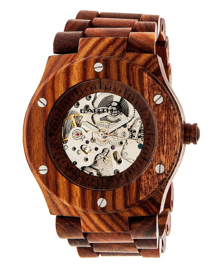 Look at this #zulilyfind! EARTH wood watches Red Grand Mesa Automatic Bracelet Watch by EARTH wood watches #zulilyfinds