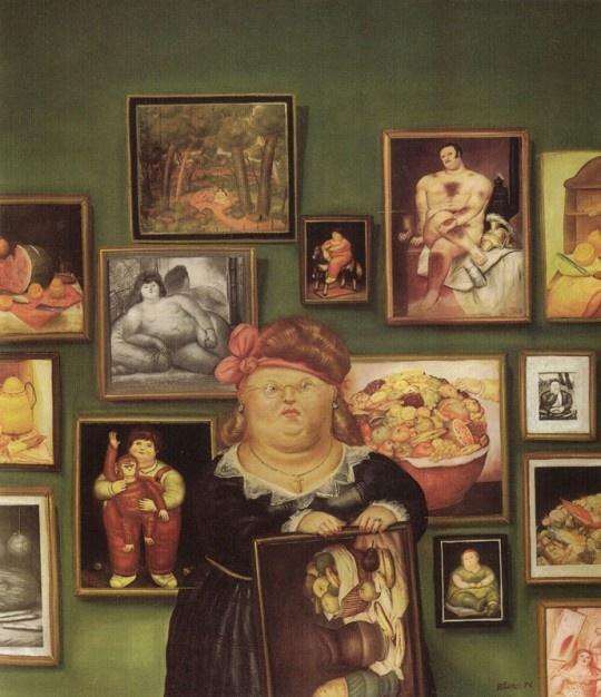 Fernando Botero, La collectionneuse, 1974