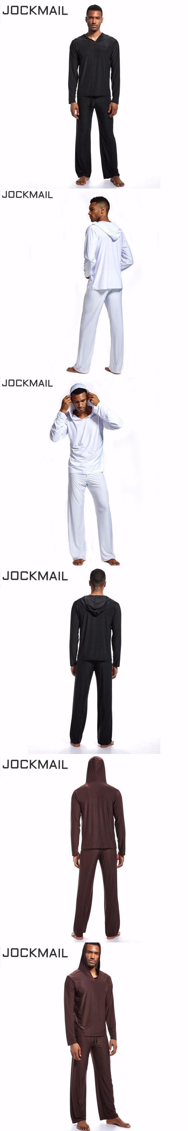 JOCKMAIL Men Activewear Casual Sweatshirt Spandex men's lounge hoodie and Loose trousers long pants For Bodybuilding Fitness