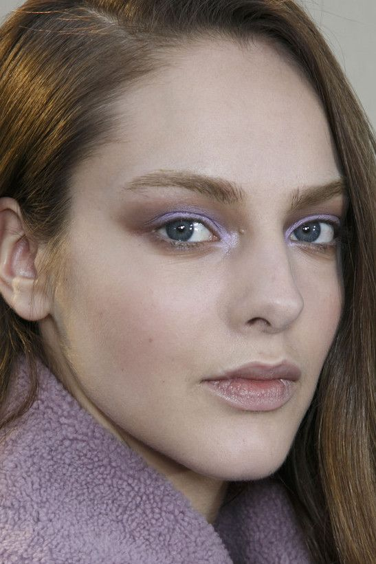 lilac contoured eye at chloé fall 2014