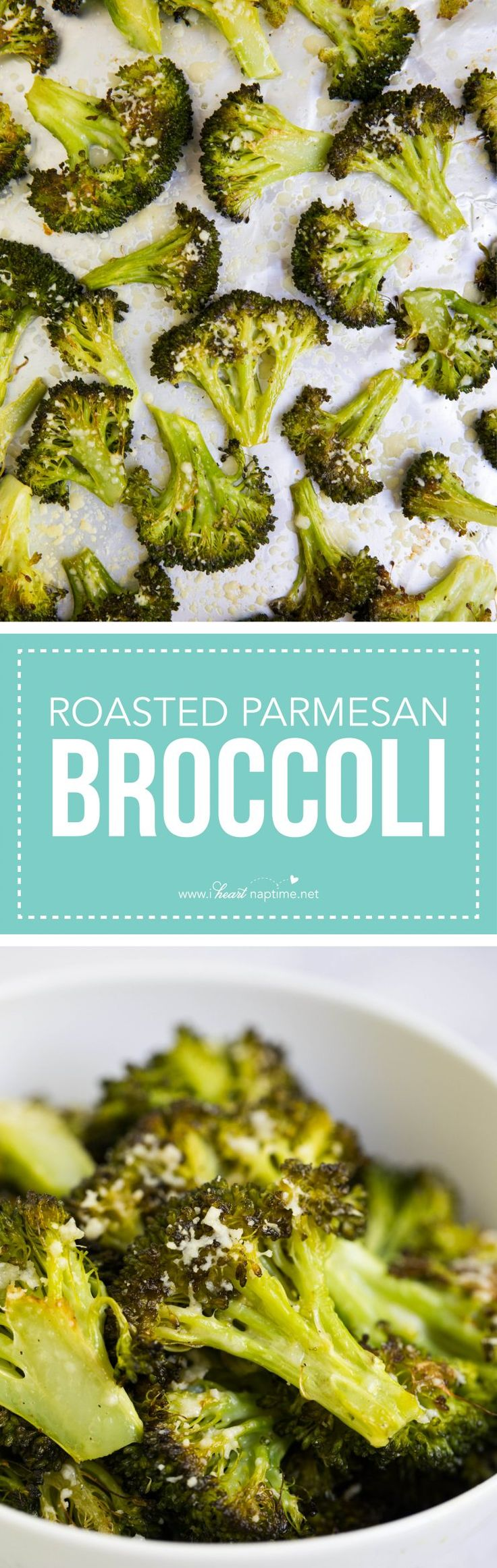 Roasted parmesan broccoli -AKA the best broccoli ever! Such a simple yet tasty side dish!