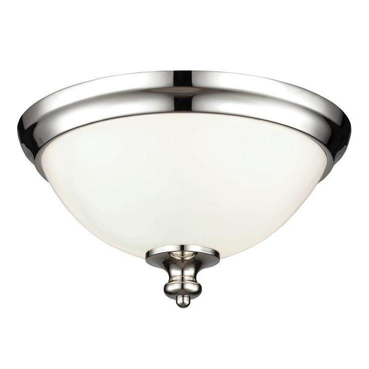 Feiss Parkman Plafond Polerat nickel 2L | Belysningsdesign.se